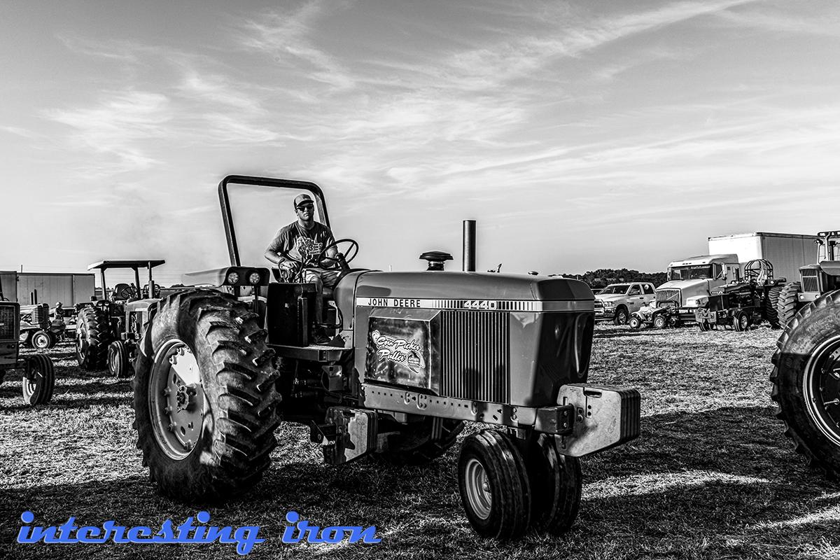 John Deere 4440 pulling tractor