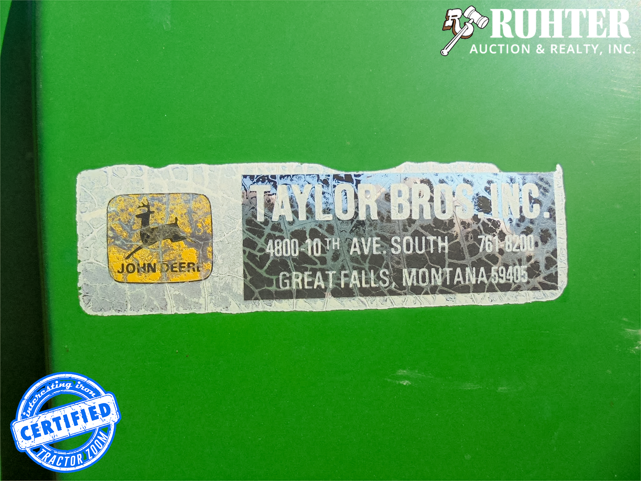 4030 Cab Tricycle Dealer Decal