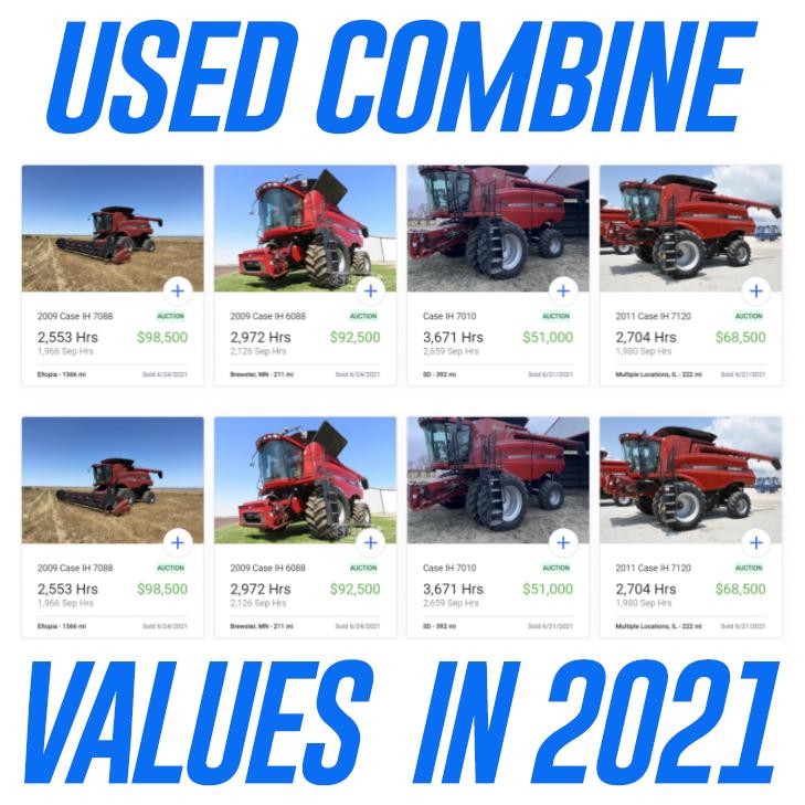 2021 Case IH combine values