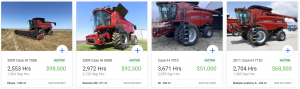 2021 Case IH Combines Values on Iron Comps
