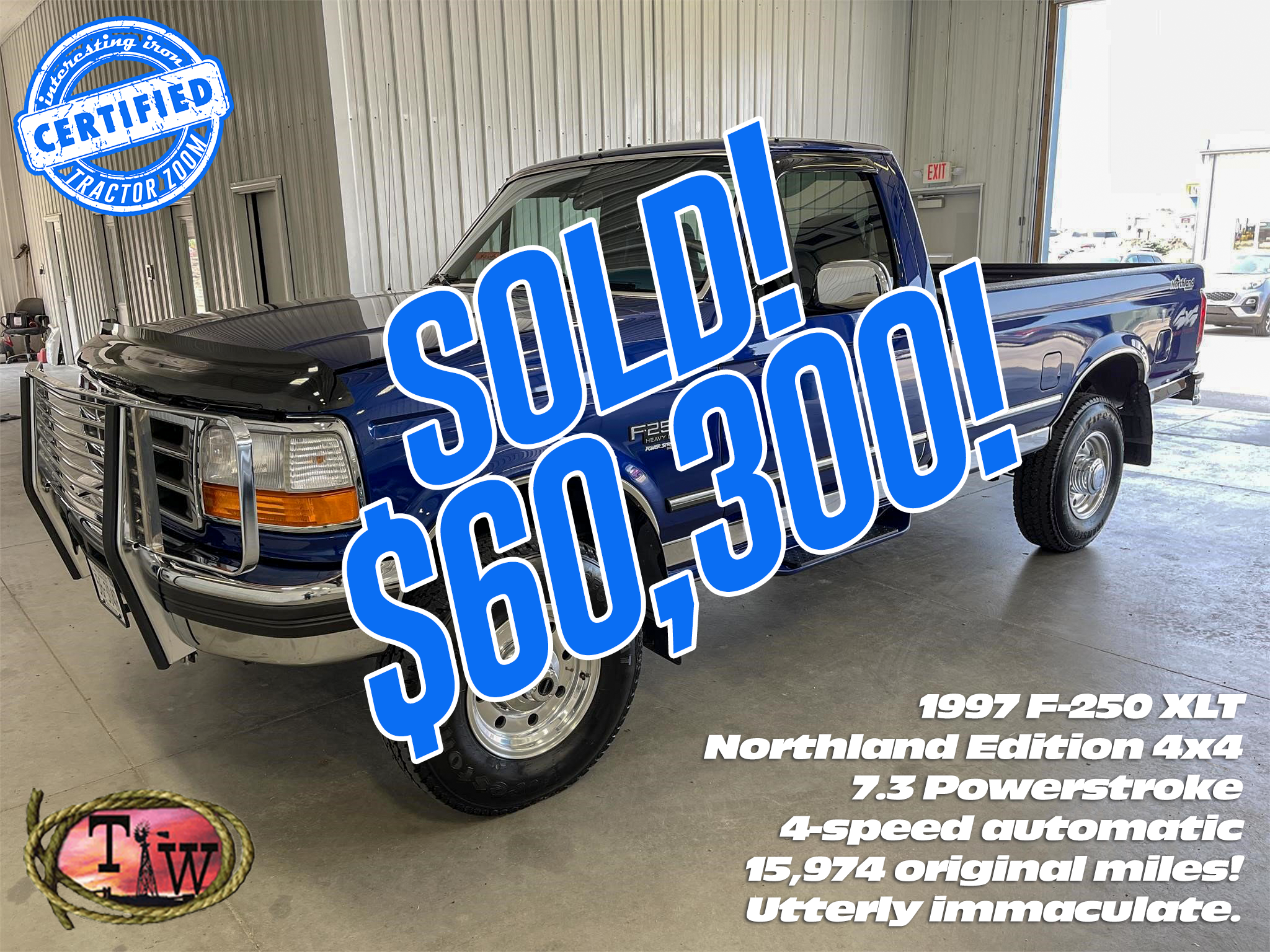 Ford F-250 power stroke truck at auction