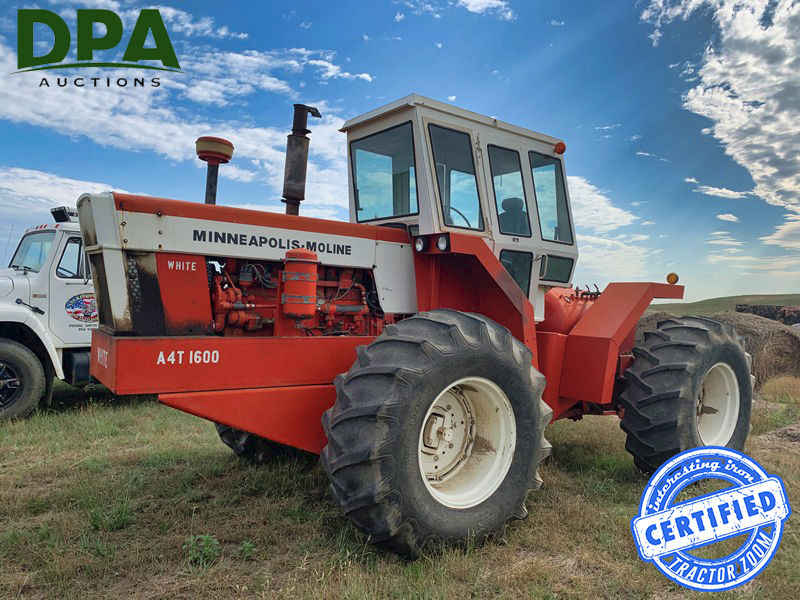 Minneapolis Moline A4T-1600 interesting tractor at auction