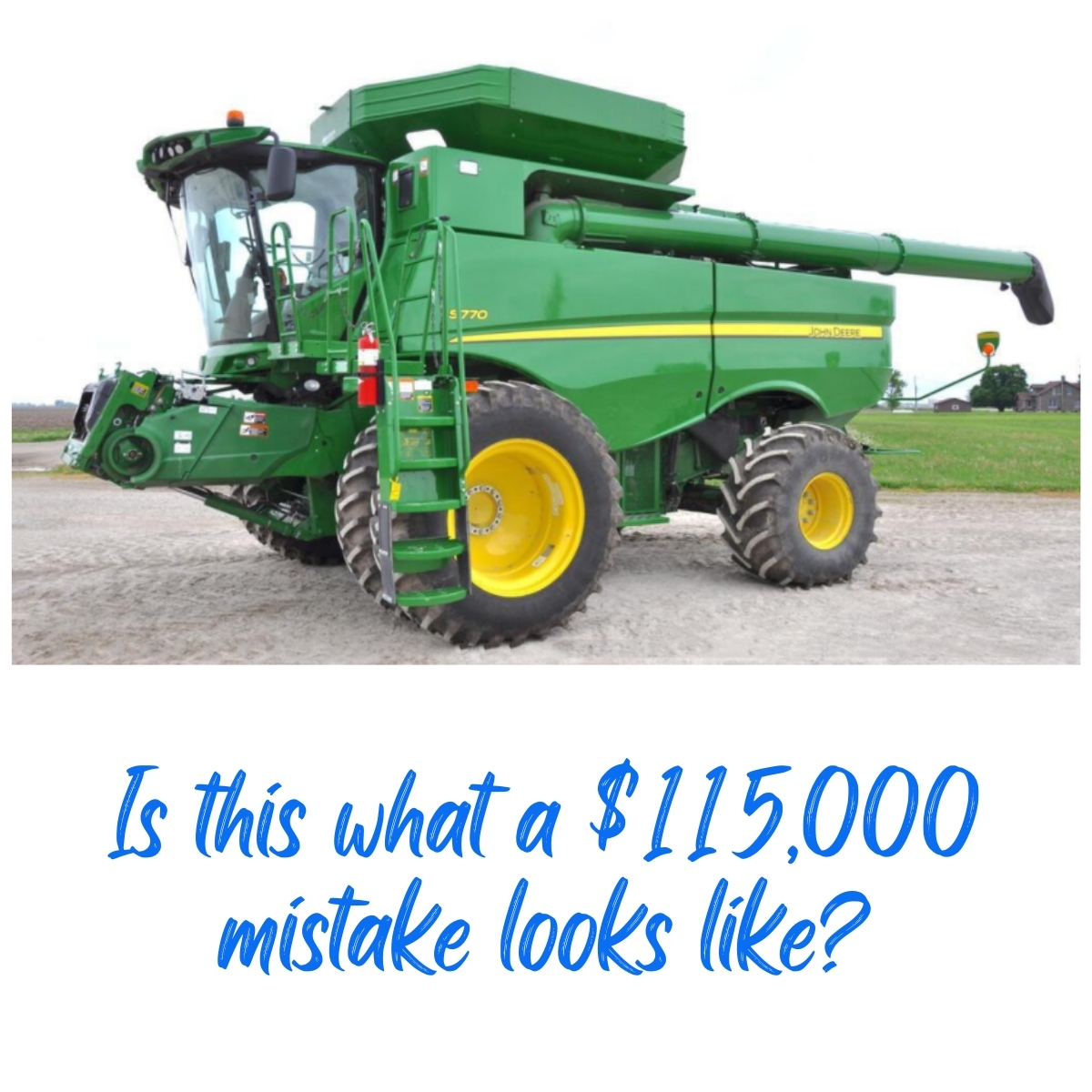 combine depreciation can be a costly part of upgrading