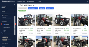 Iron Comps Auction Results: Search By State Utility Case IH